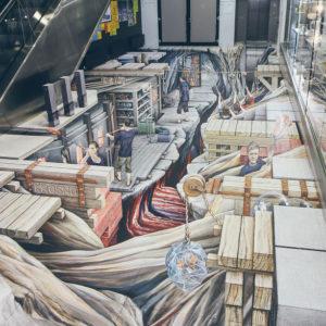 3D картины в торгово-развлекательных центрах
