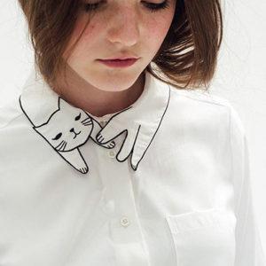 Воротник для рубашки в виде кошки