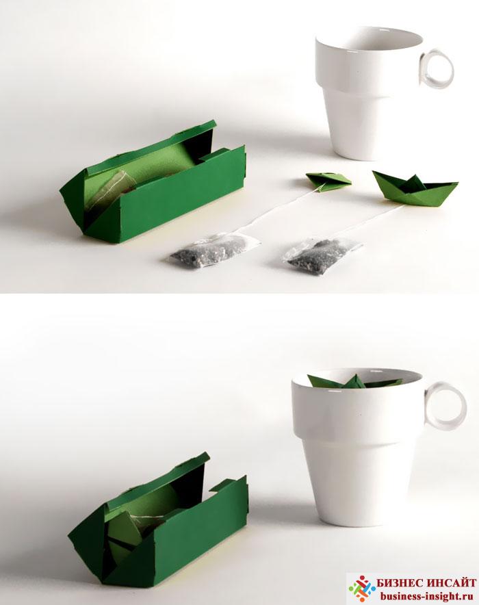 Креативные чайные пакетики Бумажный кораблик