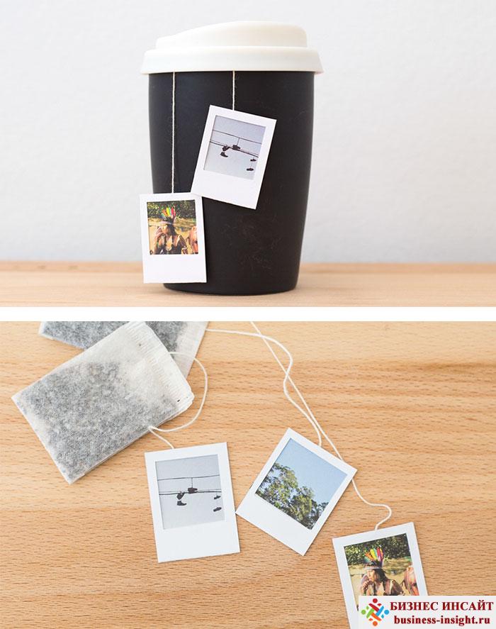 Креативные чайные пакетики Фото Полароид