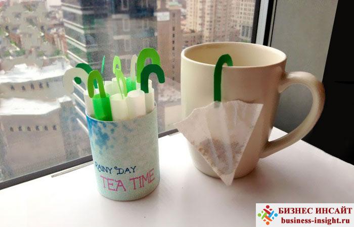 Креативные чайные пакетики Мини зонтик