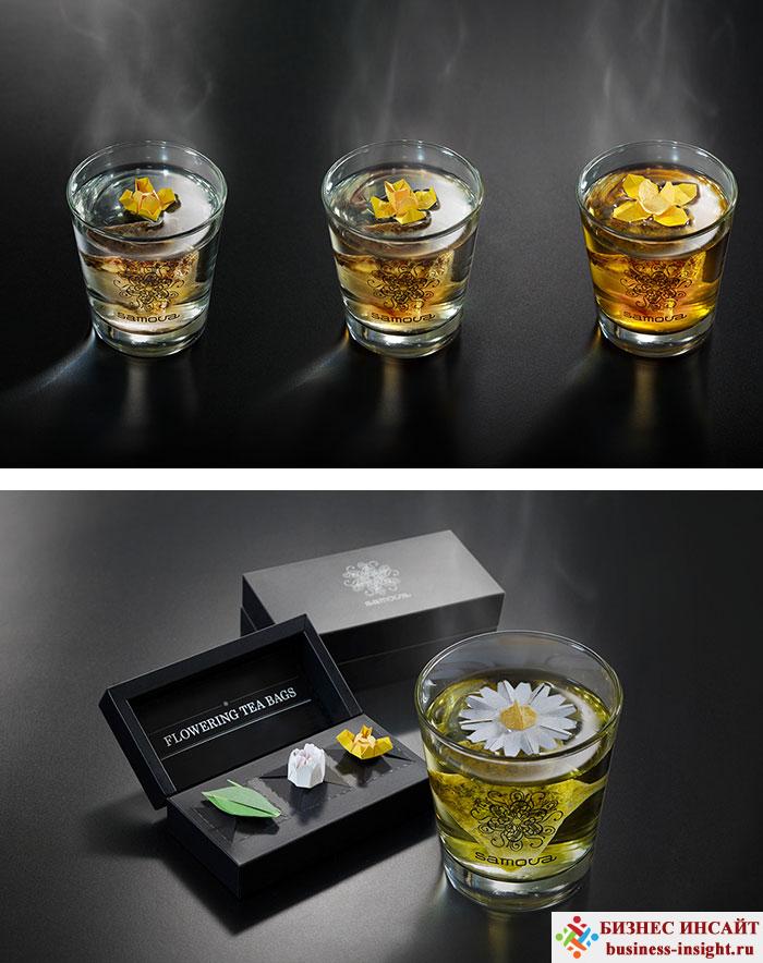 Креативные чайные пакетики Плавающий цветок