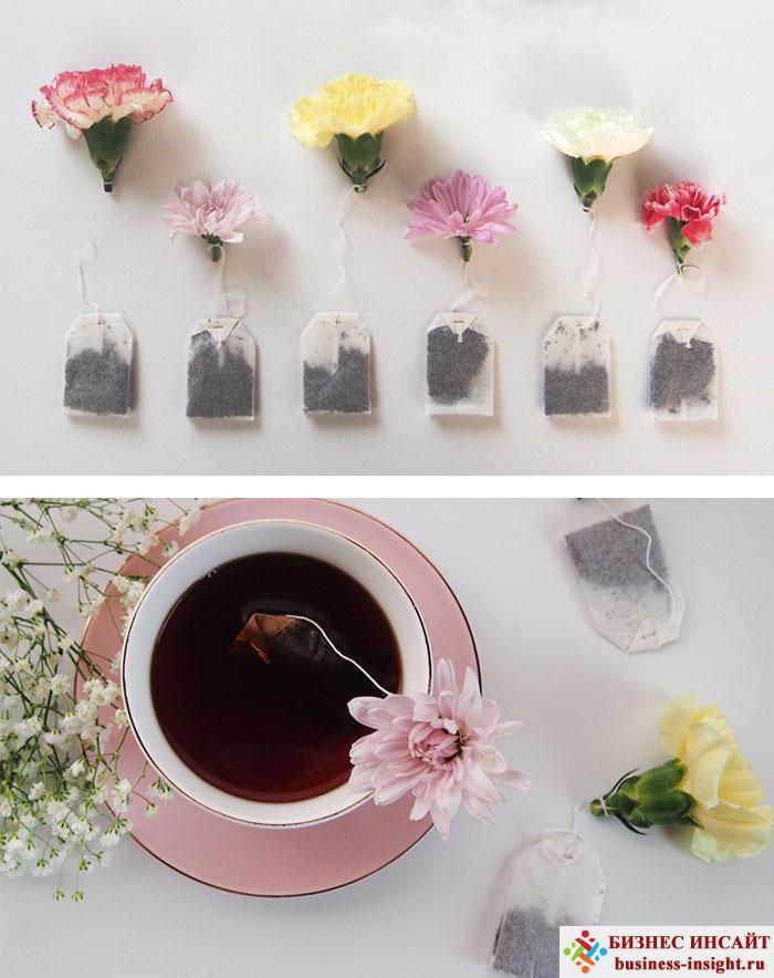 Креативные чайные пакетики Цветок