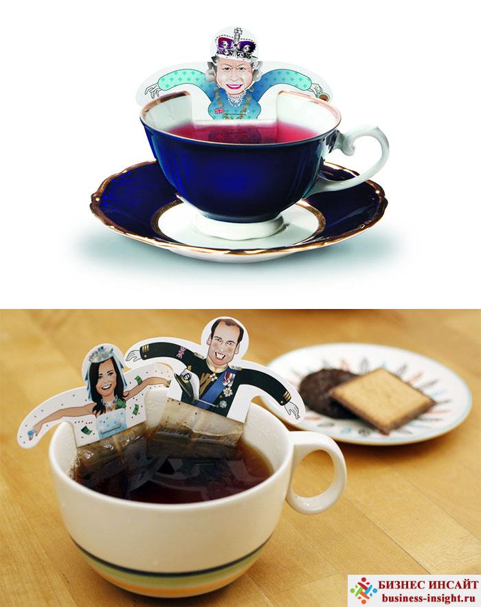 Креативные чайные пакетики Веселая королева