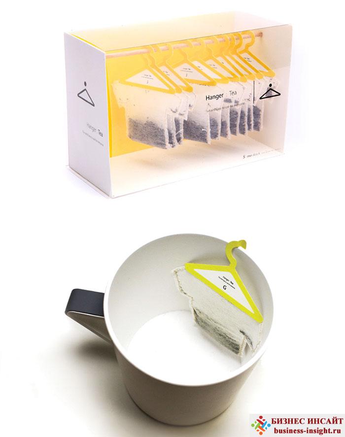 Креативные чайные пакетики Вешалка