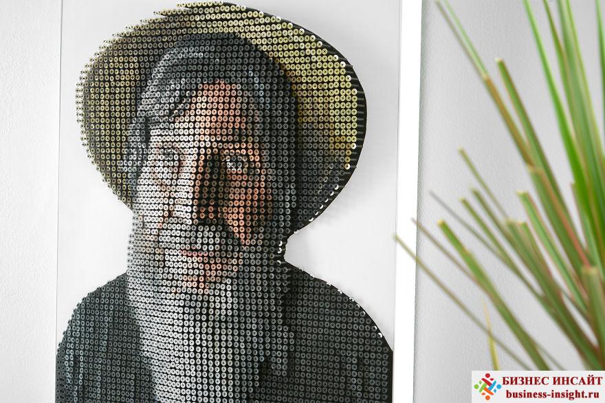 Объемный портрет слепого