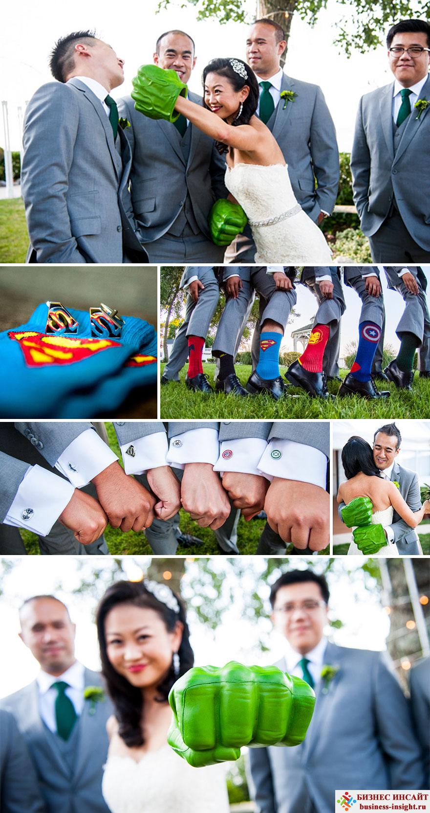 Свадьба в стиле Кинокомпания Marvel