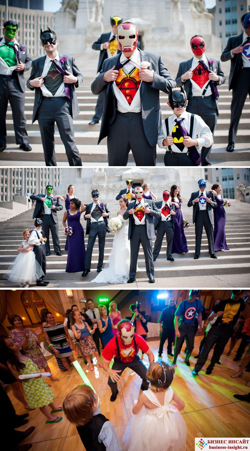 Свадьба в стиле Супергерои в масках