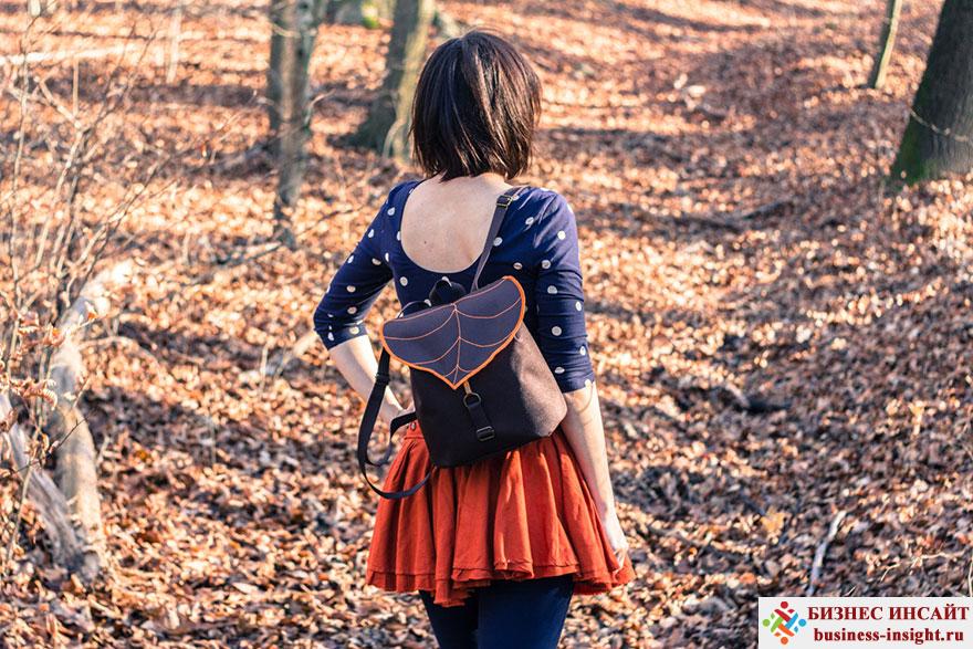 Рюкзаки и сумки в виде листьев