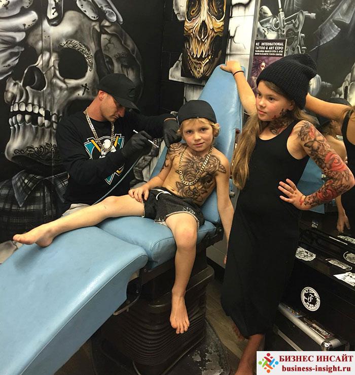 Временные (смываемые) татуировки для детей