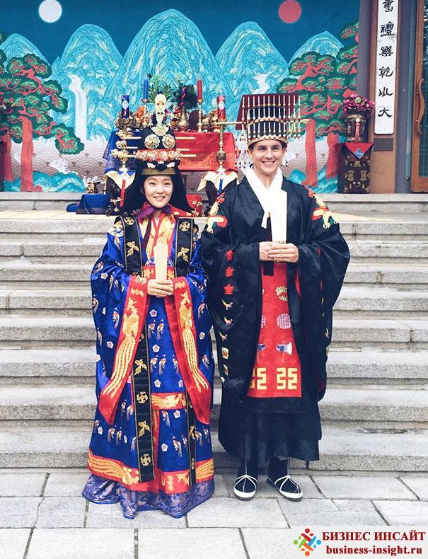 Корейский традиционные королевские свадебные костюмы