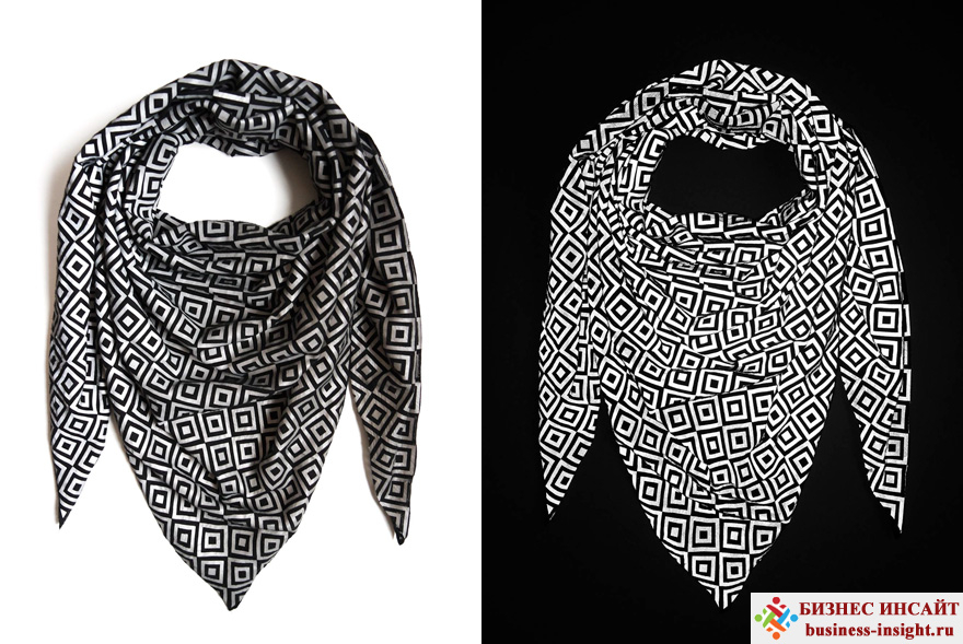 Светоотражающий шарф Анти-папарацци