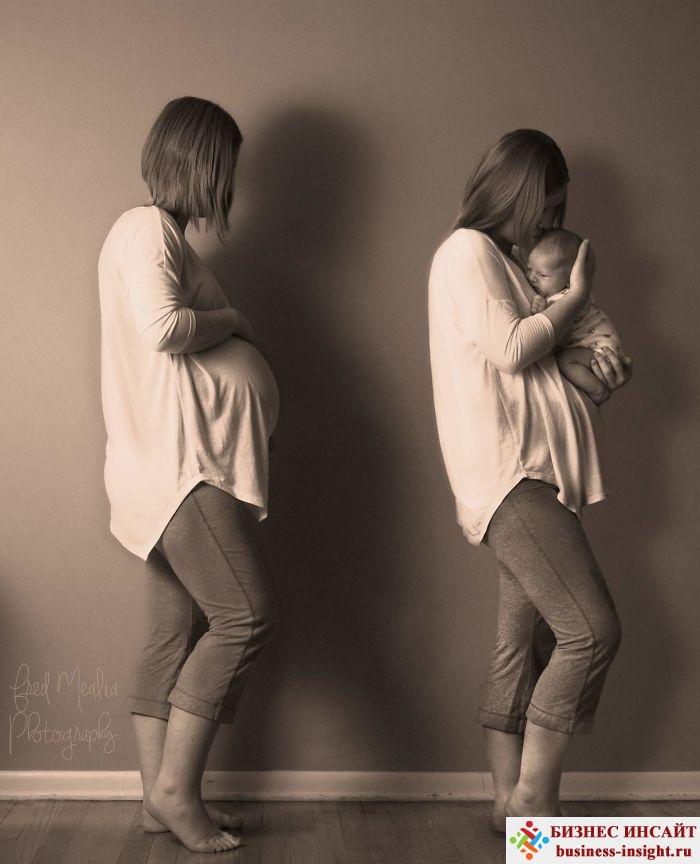 Фотографии женщин до и после рождения ребенка