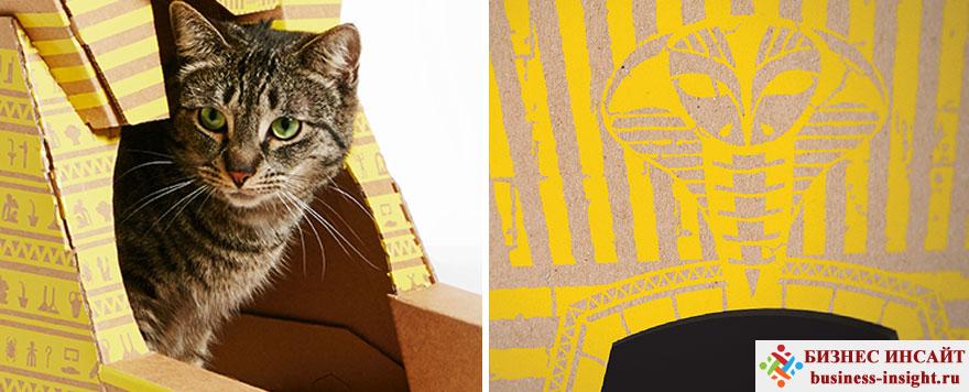 Дом для кошки из картона