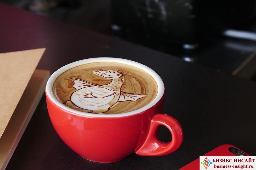 Рисунки на кофейной пене (латте-арт)
