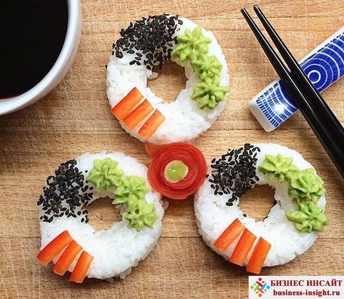 Суши в виде пончиков