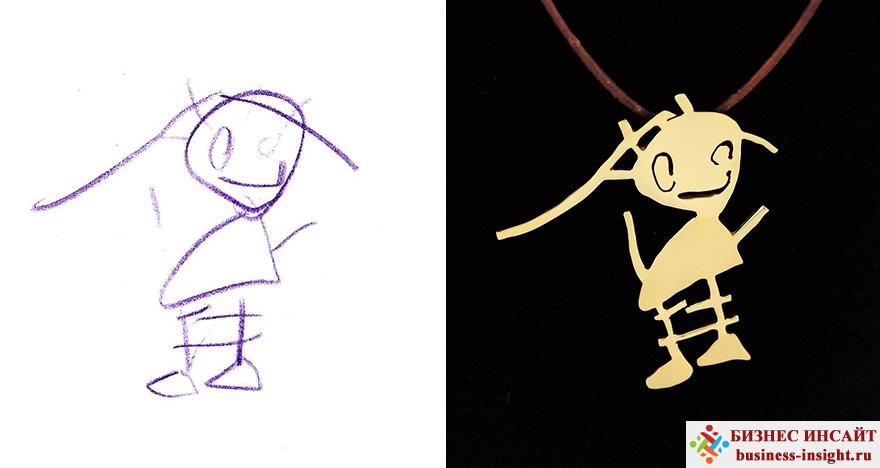 Создание украшений по эскизам детских рисунков