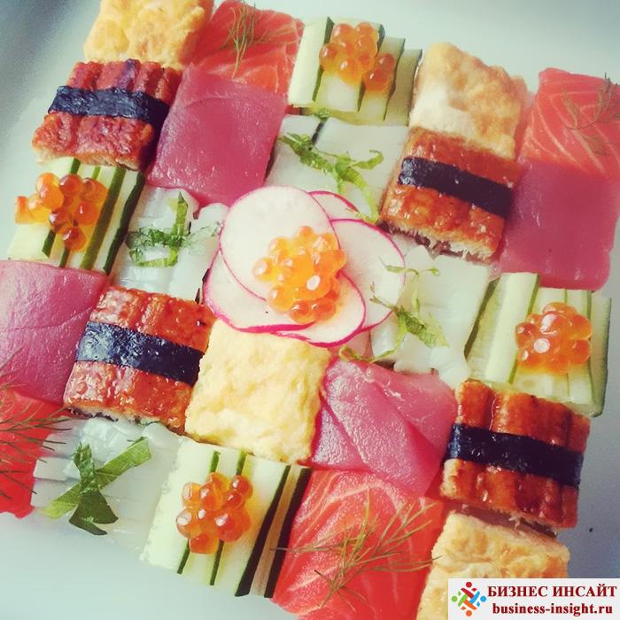 Японский тренд: Мозаика из суши