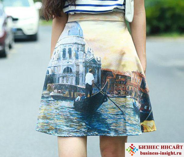 Изображение известных картин на одежде