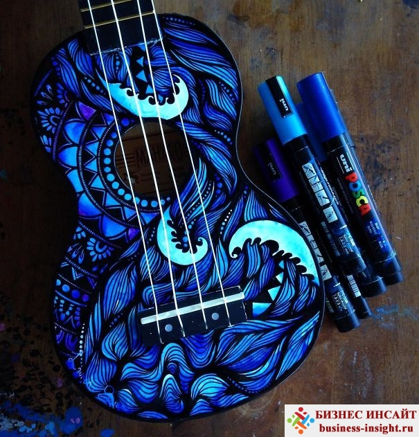 Рисунки на музыкальных инструментах