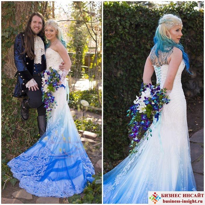 Как можно покрасить свадебное платье