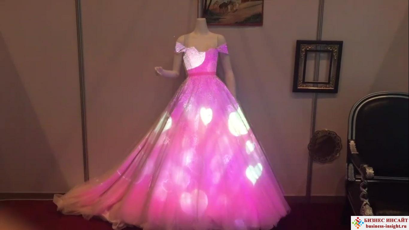 Проекционный дизайн. Проекция на свадебном платье.