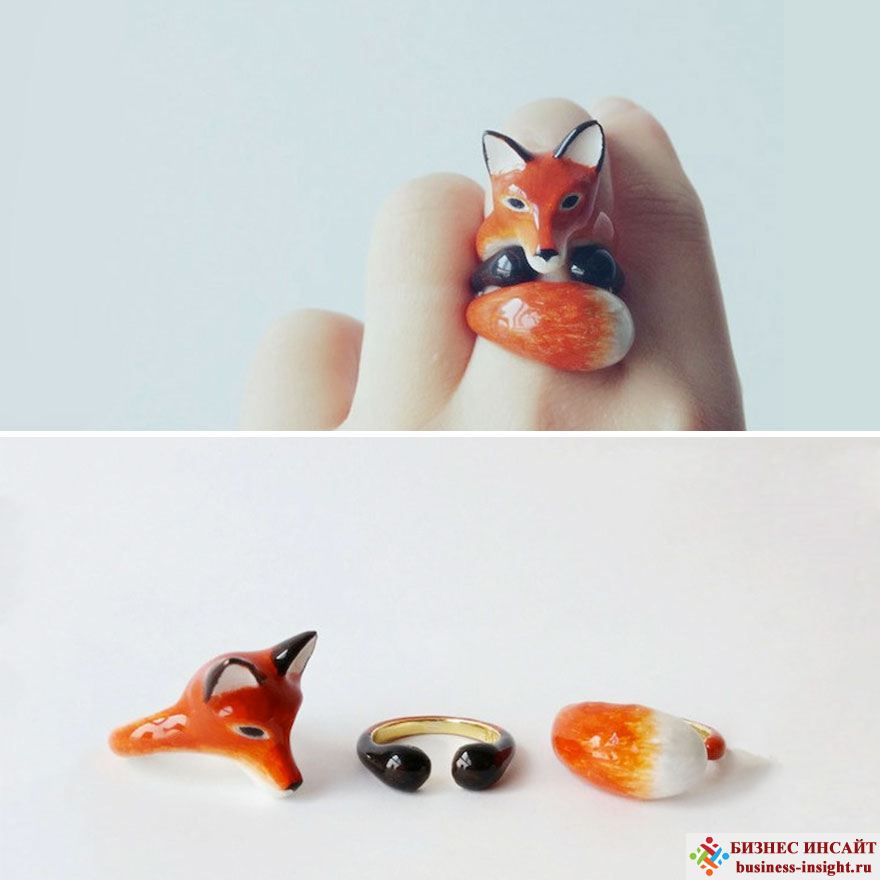 Кольца в виде животных, обнимающих ваши пальцы