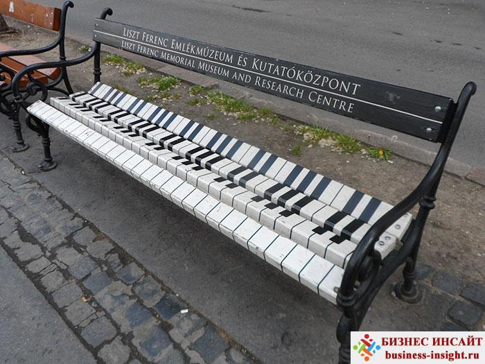 Креативные скамейки – бизнес на любителях посидеть
