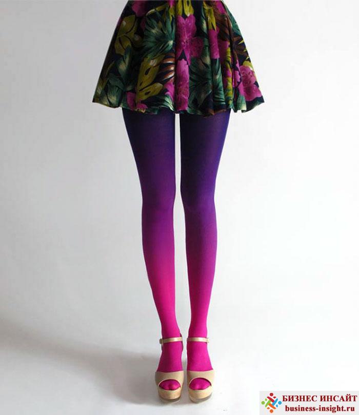 Женские колготки (чулки), плавно меняющие свой цвет