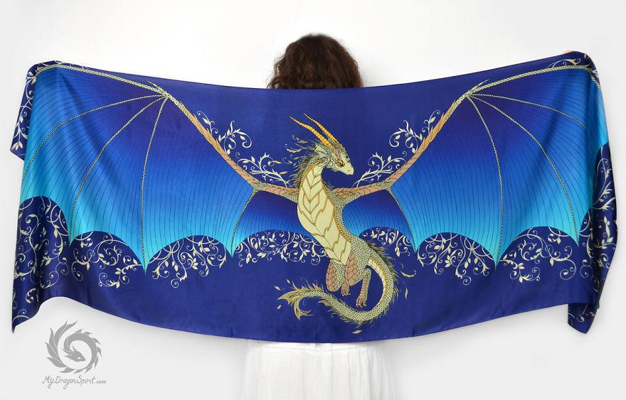Платки с изображением дракона