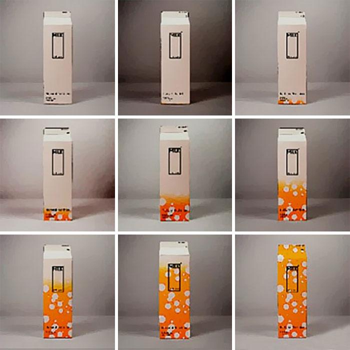 10. Упаковка для молока, которая меняет цвет по мере истечения срока годности