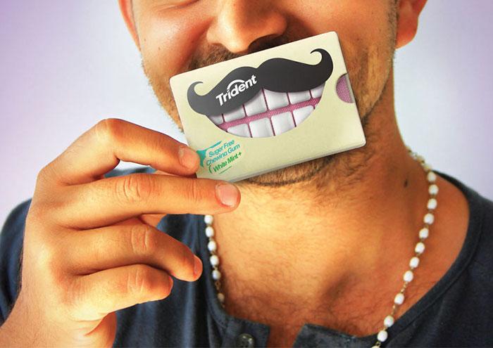 109. Упаковка для жевательной резинки в виде красивых зубов