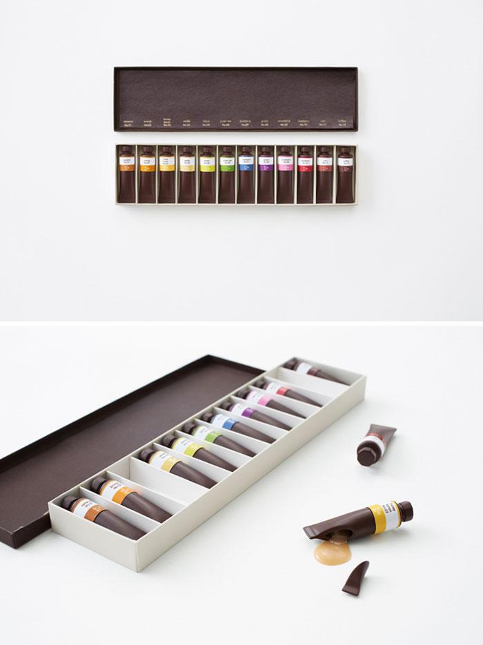 12. Шоколад похожий на масляные краски