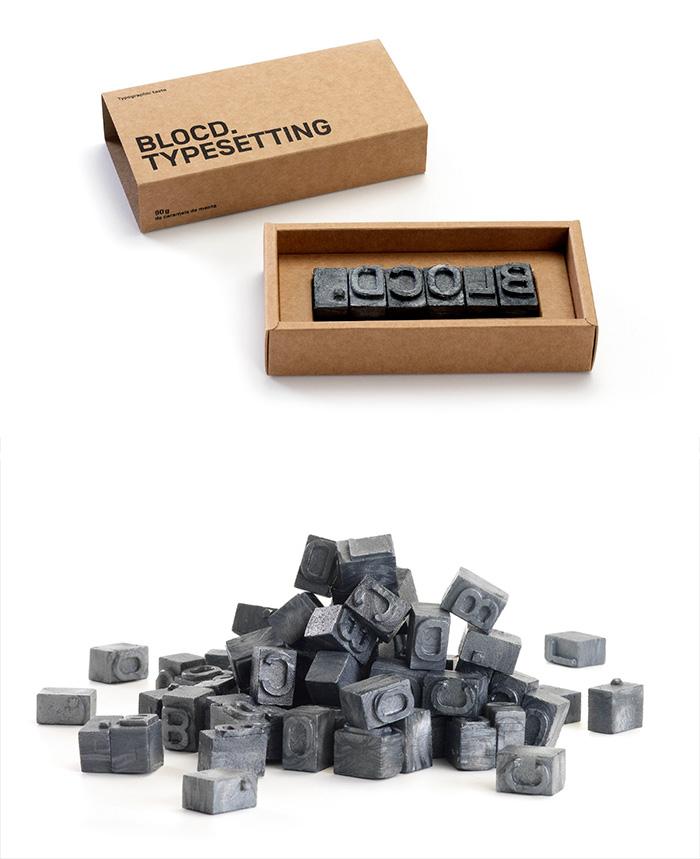 125. Шоколад в виде наборного шрифта