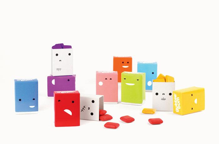 128. Дизайн упаковки для веселой жевательной резинки