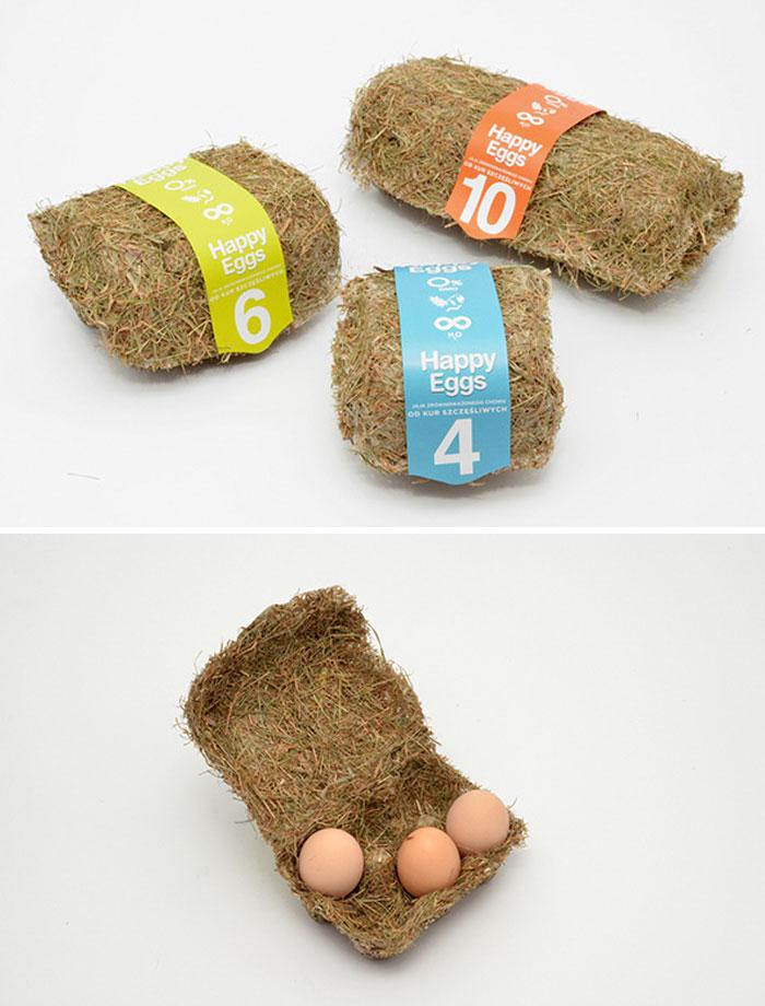 13. Упаковка для яиц из спрессованного сена