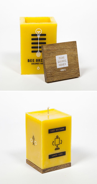 14. Упаковка для меда, сделанная из воска, она может гореть как свеча