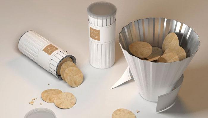 15. Упаковка для чипсов, которая может превращаться в миску