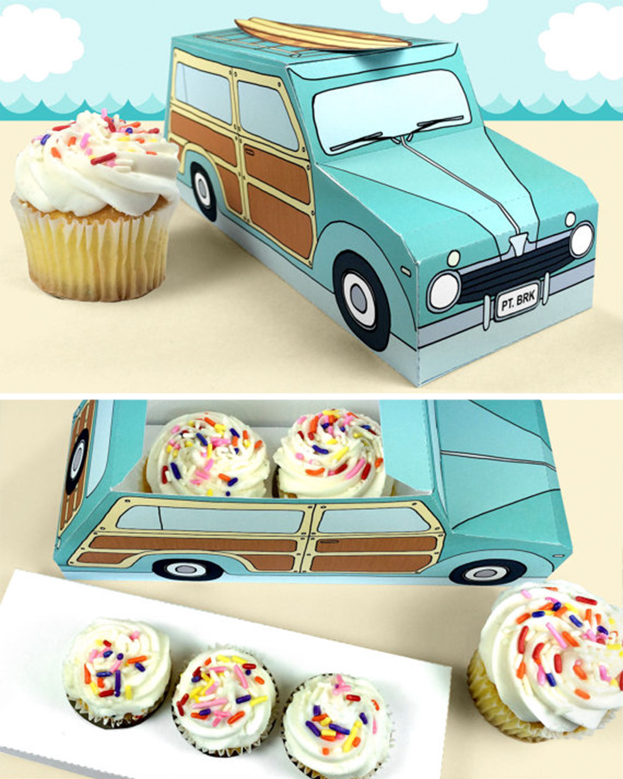 168. Упаковка пирожных в виде машинки