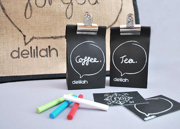169. Упаковка кофе и чая, на которой можно рисовать мелом