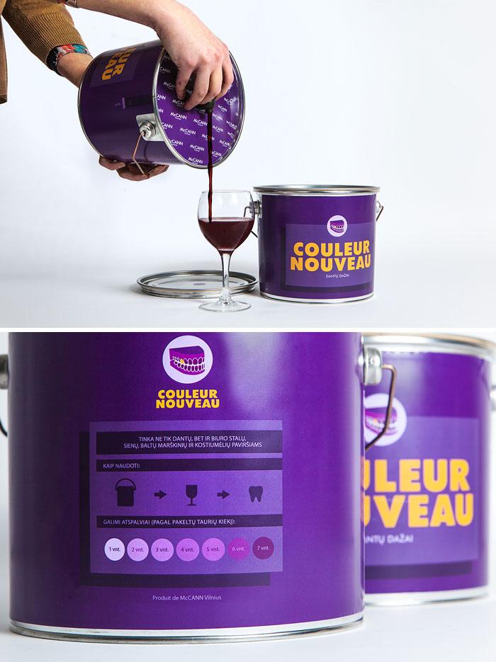 171. Упаковка для вина в виде банки с краской