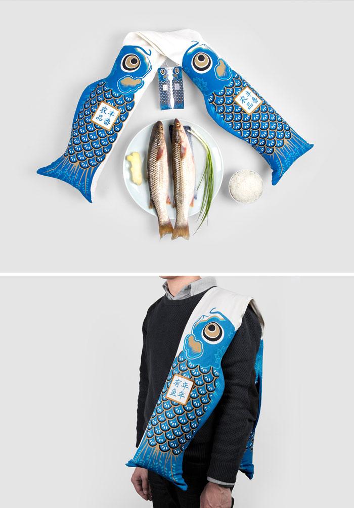 175. Упаковка для большой рыбы, которую удобно носить