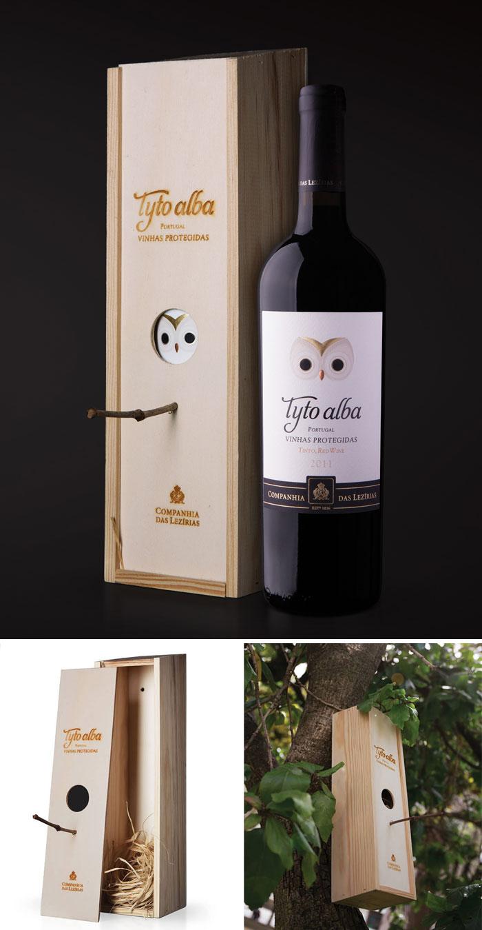 2. Деревянная коробка из-под вина легко превращается в скворечник