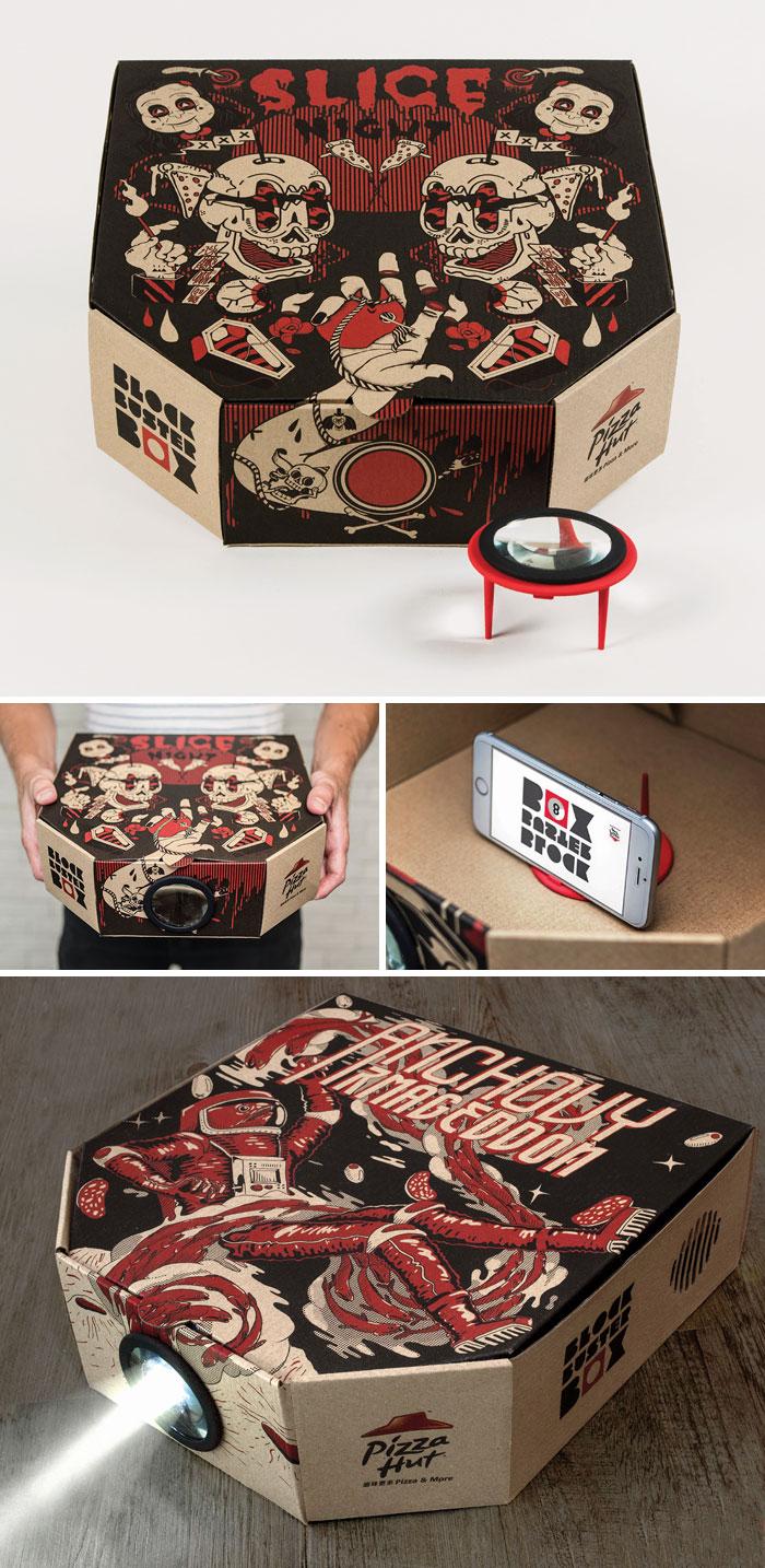 27. Коробка для пиццы, которая превращается в проектор