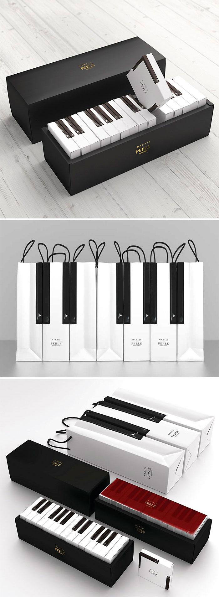 32. Упаковка для кексов в виде клавиатуры пианино