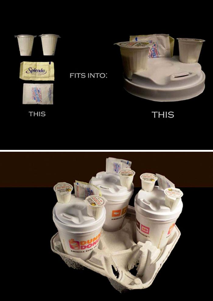 37. Подставка под стаканы с кофе