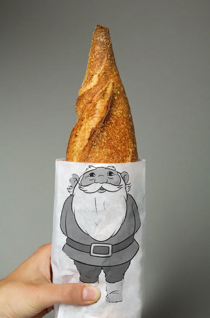 42. Упаковка для хлеба в виде гнома