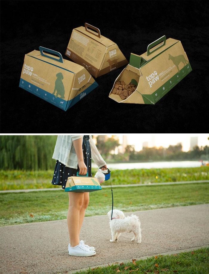 71. Еда для собак в картонной упаковке