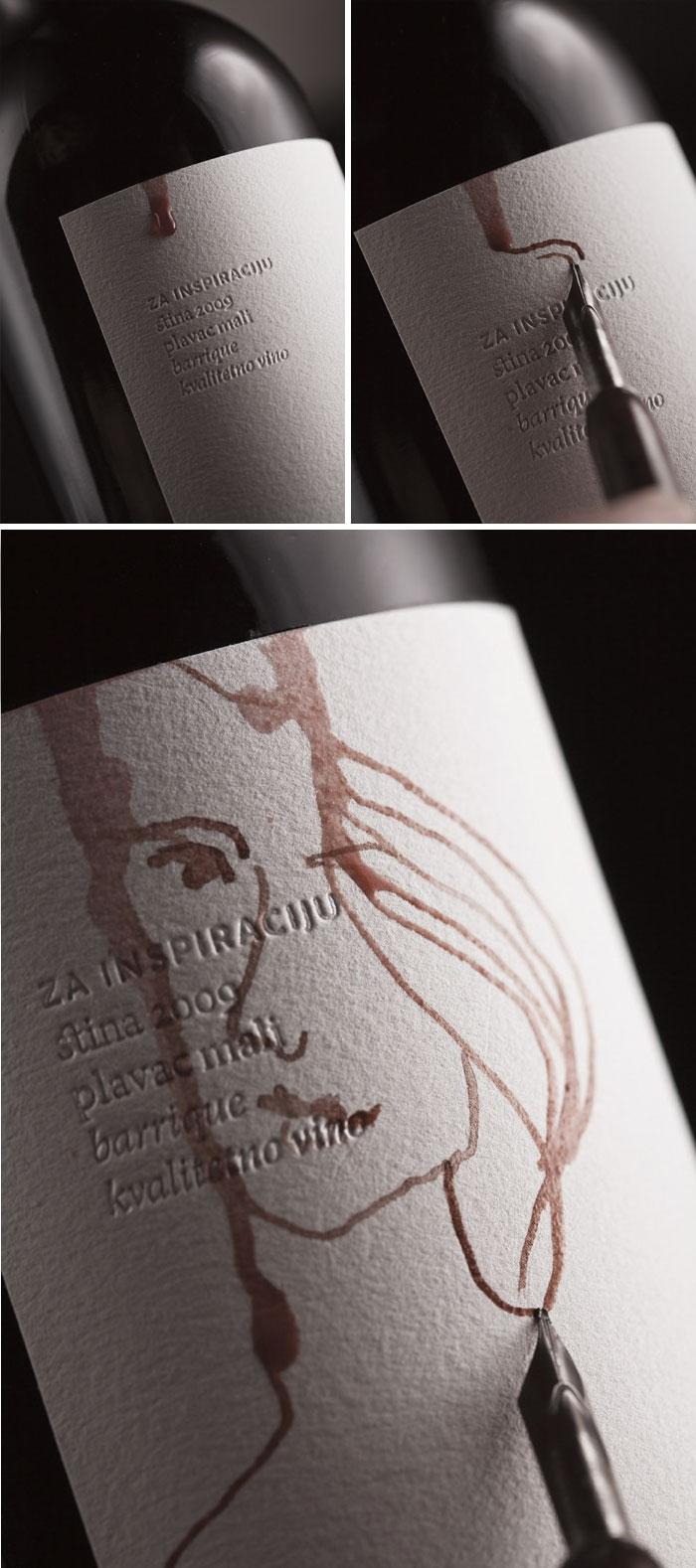 84. Бутылка вина с этикеткой, на которой можно рисовать