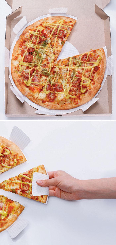 9. Упаковка для пиццы, которую удобно держать